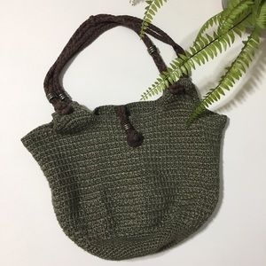 Happy & Free • cotton bamboo crochet knit boho bag